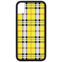 Plaid iPhone Xr Case | Yellow