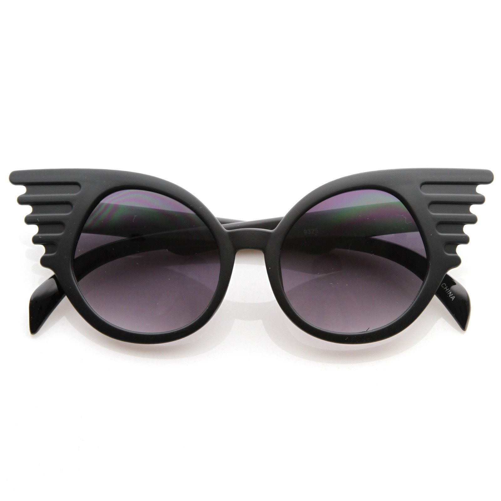 Image of Trendy Unique Fashion Angel Wings Round Sunglasses 8581