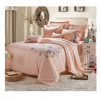Silk ink and wash painting Duvet Quilt Cover Sets Bedding Cover Set  01 Green