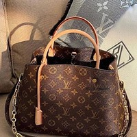 LV Louis Vuitton Full Letters Handbag Shoulder Bag Messenger Bag Shopping Bag