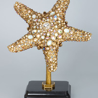 Bennett Starfish Object with Marble Base - Jay Strongwater