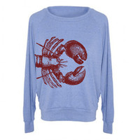 Womens LOBSTER Tri-Blend Pullover - American Apparel - S M L (8 Color Options)