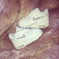 Kids/Baby Crystal Nike Air Max 90's (Ticks Only)