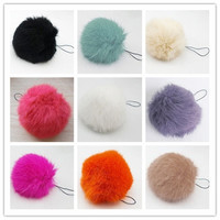 Soft Rabbit Fur Ball Key chains Mobile phone Plug backpack bags decorations = 1931585988
