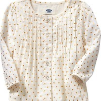 Sparkle-Print Tops for Baby