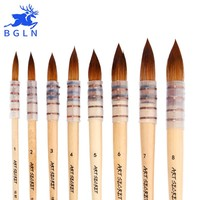 1Piece Korean Nylon Hair Watercolor Paint Brush Professional Pointed Artist Painting Brushes Acrylic Brushes Art Supplies 15RT