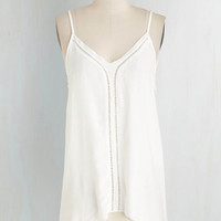 Boho Mid-length Spaghetti Straps Tranquility and Crumpets Top by ModCloth