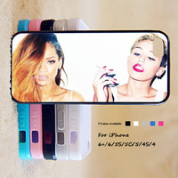 Miley Cyrus And Rihanna Phone Case For iPhone 6 Plus For iPhone 6 For iPhone 5/5S For iPhone 4/4S For iPhone 5C iPhone X 8 8 Plus