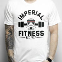 Imperial Fitness on a White Unisex Tee Shirt