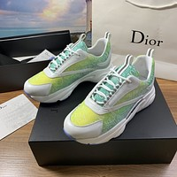 dior fashion men womens casual running sport shoes sneakers slipper sandals high heels shoes 397