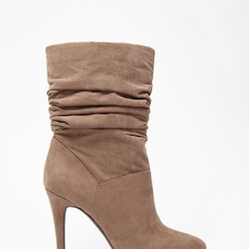 Slouchy Faux Suede Booties