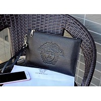 VERSACE MEN LEATHER HANDBAG