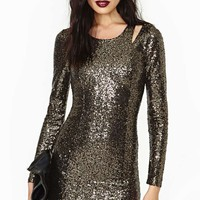 Lucca Couture Golden Hour Sequin Dress