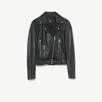 LEATHER BIKER JACKET DETAILS