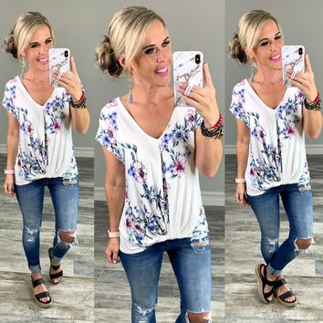 Floral Knotted Top