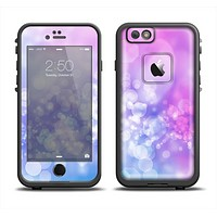 The Blue and Purple Translucent Glimmer Lights Apple iPhone 6 LifeProof Fre Case Skin Set