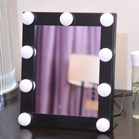 Square Vanity Mirror Makeup Mirror Cosmetic Folding Portable Compact Pocket with LED Lights Health Beauty Makeup Tool