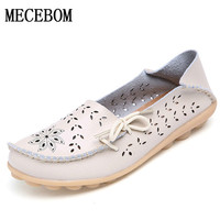 2017 Women's Flats Shoes Women loafers  Ladies Shoes Slip on Ballet Flats 9 color Genuine Cow Leather Shoes footwear F9113W