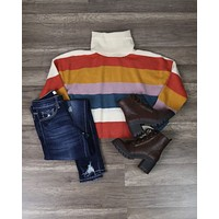 Final Sale - MINKPINK - Be Bold Stripe Knit Sweater in Multi