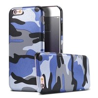 Blue Camo Military Camouflage Phone Case For iPhone 7 7Plus 6 6s Plus 5 5s SE