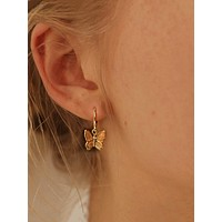 1pair Butterfly Charm Ear Cuff