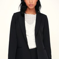Level Up Black Blazer