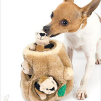 Hide-a-Squirrel Dog Toy