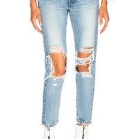 Moussy Vintage May Tapered in Light Blue | FWRD