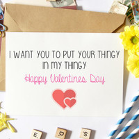 Naughty Valentine's Day Card, Funny Boyfriend Card, For Him, Gift