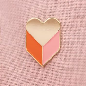Heart Shadow Enamel Pin