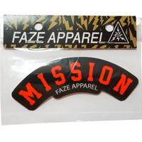On A Mission Sticker in black and red