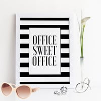 OFFICE SWEET OFFICE,Office Decor,Modern Wall Art,Office Sign,Office Poster,Printable Art,Art For Office,Office Desc Decor,Wall Art,Quote Art