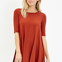 Stretch Knit Trapeze Dress