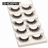 5 pair/set False Eyelashes Black Cross Fake Eye Lashes Natural Long Makeup Eyelash Extension Fake Eyelashes Non Magnetic Lashes