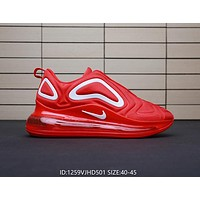 Nike Air Max 720 Hot Sale Men Casual Sport Running Shoes Air Cushion Sneakers Red