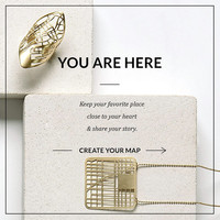 Custom Design, Map Ring, Map Necklace, Personal necklace, Personal Gift, Statement Ring, Statement Jewelry, Custom Order, One of a Kind Gift