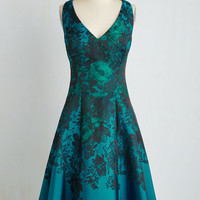 Sleeveless Fit & Flare Jacquard of All Trades Dress by ModCloth