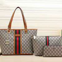 GUCCI Women Shopping Bag Leather Tote Handbag Shoulder Bag