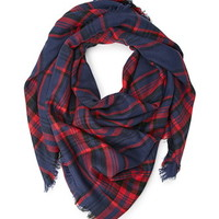 Frayed Plaid Scarf