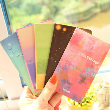 Cute Kawaii Firefly Lined paper Notebook Colorful Sea Notepad Journal diary Book for Kids Korea Stationery Free shipping 338