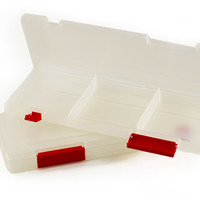 "Plastic Storage Organizer, 3 Compartments, 11"" x 4.5"" x 1"", 2 Pack"