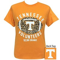 Tennessee Vols Leopard Football T-Shirt