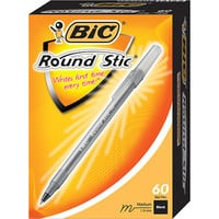 Walmart: BIC Round Stic Ball Pen, Medium, Black, 60-Pack