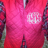 ON SALE-Monogrammed Quilted Puffer Vest