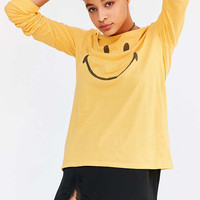 Smiley Face Long-Sleeve Tee - Urban Outfitters