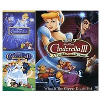 Walt Disney's Cinderella Trilogy DVD Set 3 Movie Collection