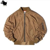 FEAR OF GOD JUSTIN BIEBER High street Clothes Clothing Mens jackets kanye west pilot flight satin ma1 bomber jacket