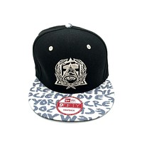 New Era x Secret Society Eye Logo Labeled Brim 9FIFTY Snapback Hat Black Grey