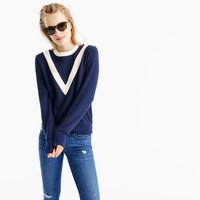 Varsity colorblock sweatshirt