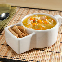 Soup & Cracker Mugs: Soup bowls with a built-in